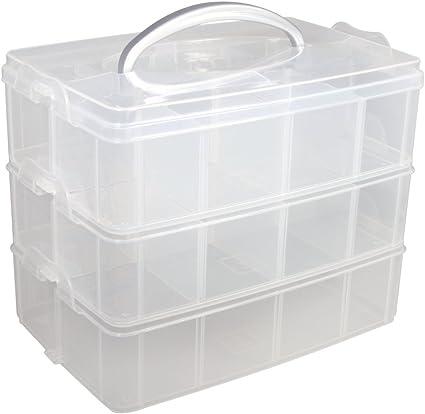 De rangement en plastique Boîtes Poignées X 10