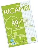 Pigna 00629034M, Ricambio non rinforzato, Rigatura 4M, quadretti 4 mm per 4° e 5° elemen...