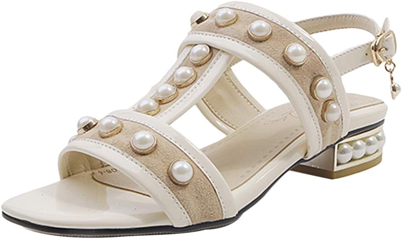 VulusValas Women Fashion Block Heel Party Sandals