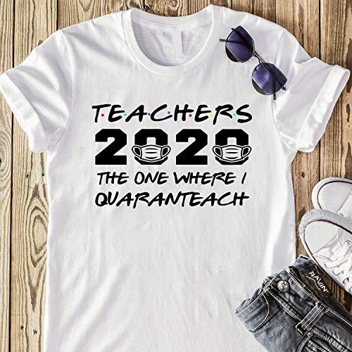 Custom Job Title Teachers 2020 The One Where I Was Quaranteach Celebrate My Birthday in Quarantine Saying Shirt Sweatshirt Hoodie for Women Ladies Men