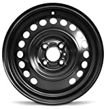 Road Ready Car Wheel For 2012-2019 Nissan Versa 15 Inch 4 Lug Black Steel Rim Fits R15 Tire - Exact OEM Replacement - Full-Size Spare