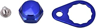 Tbest Screw Nut Cap Bearing Cover for Fishing Reel Left/Right Handle Knob Locking Plate DIY Fishing Accessory 4 Colors Selectable (Pack of 2)(Blue-Right Hand)
