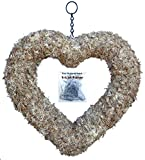 "11"" Sphagnum Moss Living Wreath Form - Heart, Natural Organic Original"
