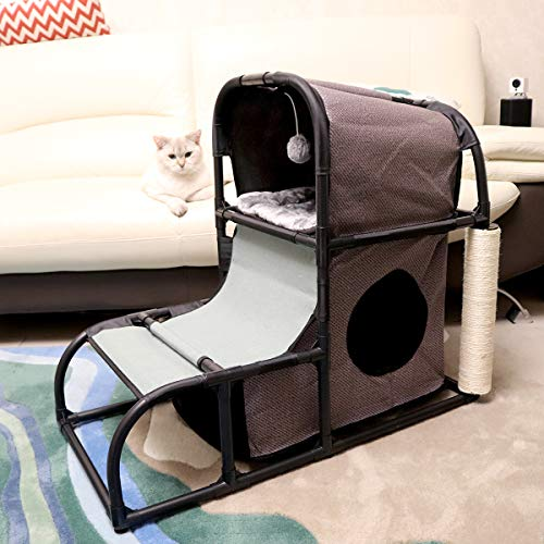 Goetland Modern Cat Tree House Condo Pet Furniture Large Cat Tower Bed...
