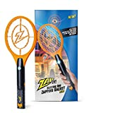 ZAP IT! Bug Zapper Rechargeable Mosquito, Fly Killer and Bug Zapper Racket - 4,000 Volt - USB Charging, Super-Bright LED Light to Zap in The Dark - Safe to Touch (Orange Mini)