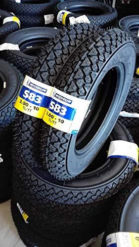 Paire de pneus Michelin S83 3.00-10 42J pour Piaggio Vespa Special 50 N R
