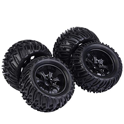 Alomejor1 2 PCS RC 1//8 Scale On-Road Vehicles Wheel Upgrade Wheel Rim Hub Tires Rubber Tyres for 1//8 RC Car Remote Control Truck