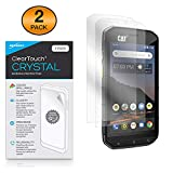 CAT S48C Screen Protector, BoxWave [ClearTouch Crystal (2-Pack)] HD Film Skin - Shields from Scratches for CAT S48C