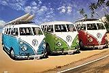 Volkswagen - VW Bus - Auto Poster Strand Meer VW Bus -