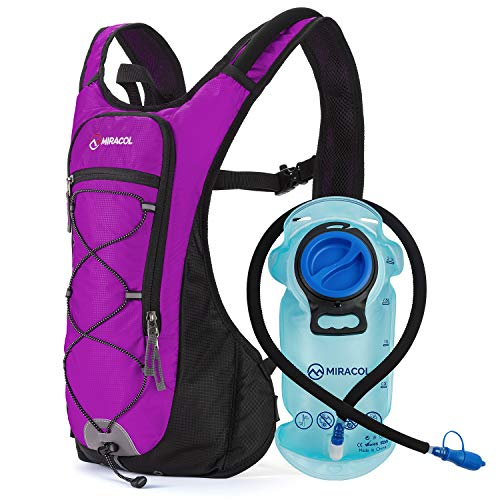 MIRACOL Hydration Backpack with 2L BPA-Free Bladder Lightweight Hydration...