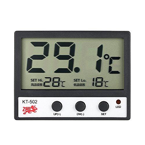 Galapara LCD Digital Thermometer für Kühlschrank Aquarium,Fisch-Behälter-Aquarium-Thermometer Wassertemperaturmessgerät ° C / ° F Hoch/Niedrig-Temperatur-Alarm