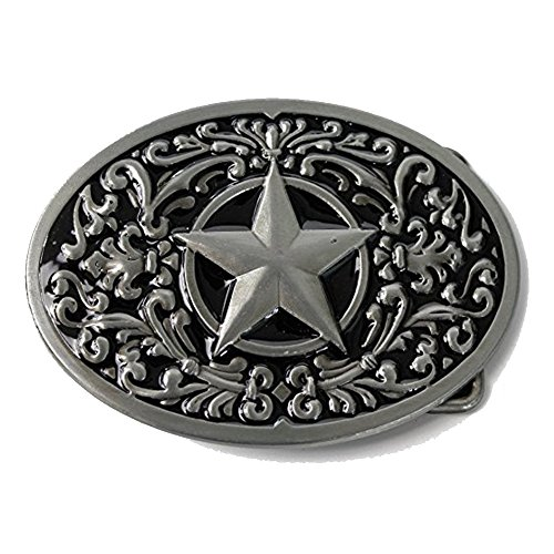 LKMY - Hebilla de cinturón - para hombre Plateado xiao star