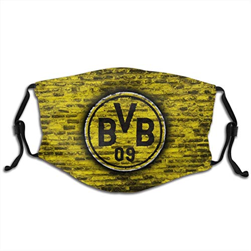 Jwgdcby Borussia Dort-Mund Bvb Gesichtsmaske für Kinder, staubdicht, Halstuch für Outdoor