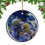 Weekino Estados Unidos América Gatlinburg Ripley's Aquarium of The Smokies Decoración de Navidad Árbol de Navidad Adorno Colgante Ciudad Viaje Colección de Recuerdos Porcelana 2.85 Pulgadas