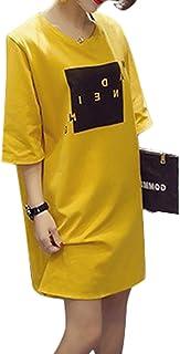 [LIBECLO(リベクロ)] 夏物 最終値下げ 処分 チュニック Tシャツ ワンポイント ロゴ ワンピース レディース ルームウェア 部屋着 春夏秋