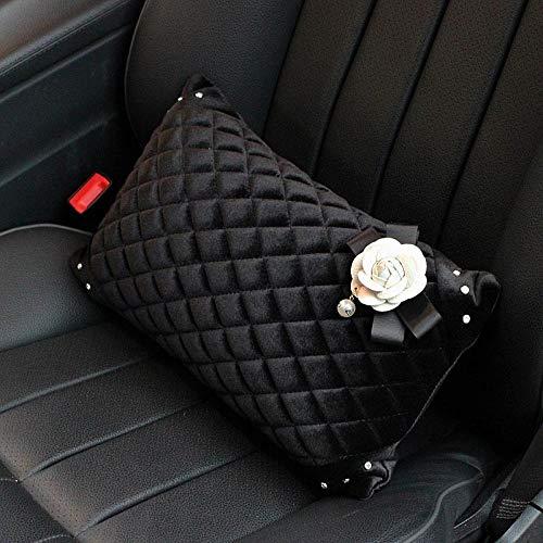QXXKJDS Funda para cinturón de seguridad con diseño de flores de camelia, color 1 almohada de cintura