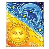 Dawhud Direct Sun and Moon Fleece Throw Blanket