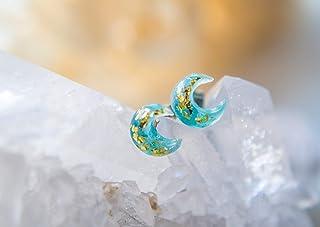 Orecchini in resina luna. Orecchini in resina, orecchini luna, gioielli in resina, gioielli luna, regalo per lei, orecchin...