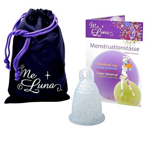 Me Luna Copa menstrual Classic Ring Blue Glitter M