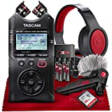 Tascam DR-40X Four-Track Digital Audio Recorder and USB Audio Interface w/Accessory Bundle