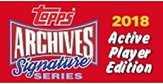 2018 Topps Archives Signature Series Baseball Active Hobby Box of 1 Autographed Card