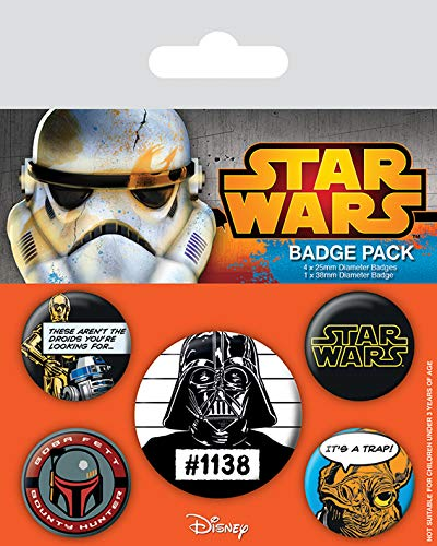Pyramid International Star Wars Cult Badge, Multicolore, 10 x 12.5 cm