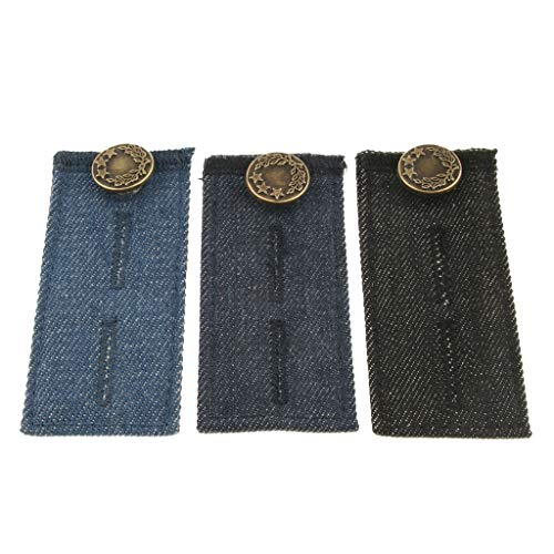 F Fityle Herren/Damen Jeans Hosen Taille Expander Stretch Extender Pack 3 Stück