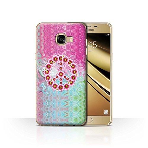 Stuff4 Hülle/Case für Samsung Galaxy C5 / Krawatte Farbstoff Marmor Muster/Hippie Hipster Kunst Kollektion