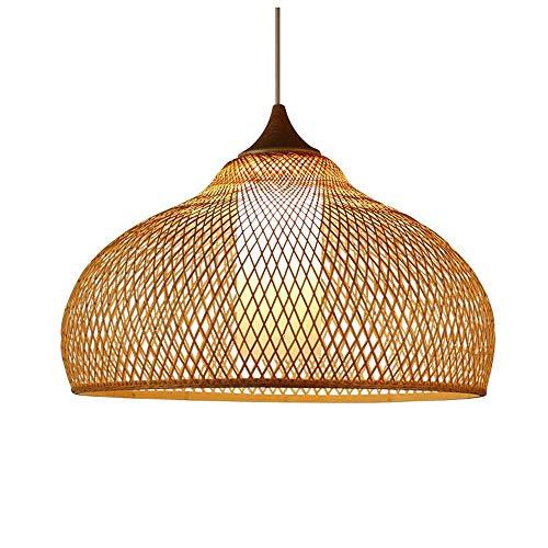 JISHIYU-C Techo de Mimbre Rota Sombras de la Armadura de la lámpara de la lámpara de bambú Cuerpo de iluminación Accesorios de Habitaciones repicar de luz de lámpara Colgante...