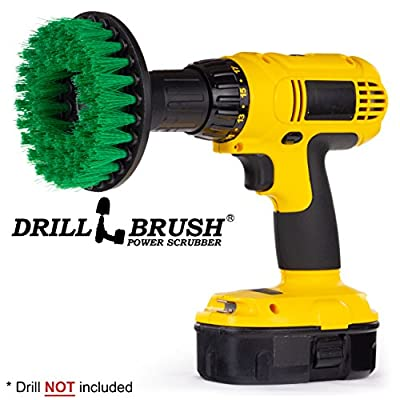 Cleaning Supplies 5 inch Medium Bristle Brush for Drill. Ideal for Bathroom and Kitchen Surfaces Including: Sinks, Shower, Tile and Grout, Bathtub, and Flooring.