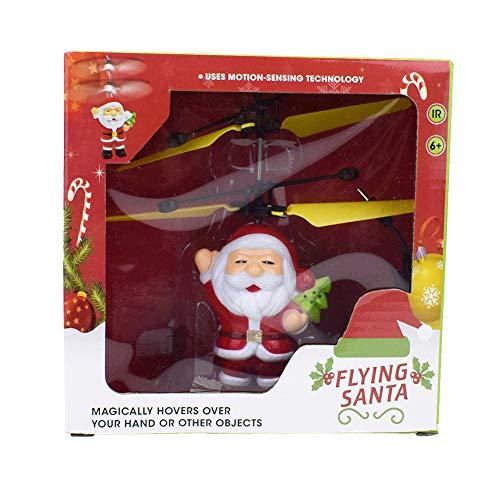 VIDOO Eléctrico Santa Claus Avión Volando Juguetes Navidad Helicóptero Navidad Regalo Drone Juguetes para Niños-B