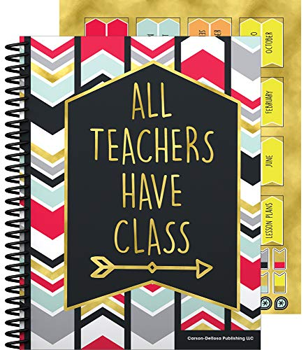Aim High Academic Teacher Planner - Undated Weekly/Monthly Plan Book, Lesson Planner and Record Organizer for Classroom or Homeschool (8.4' x 10.9')