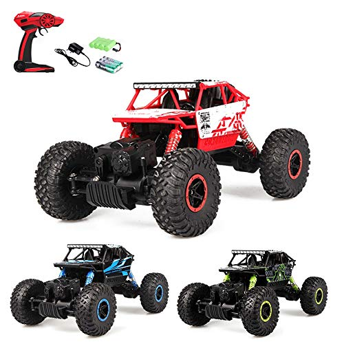Arshiner RC Auto Car Truck telecomandato Racing Buggy 1: 184WD 2.4GHz RC MONSTERTRUCK per Kid Rock Crawler Batterie ricaricabili incluse
