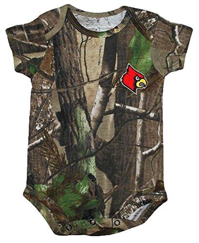 Louisville Cardinals NCAA College Newborn Baby RealTree Camo Camouflage Creeper (0-3)