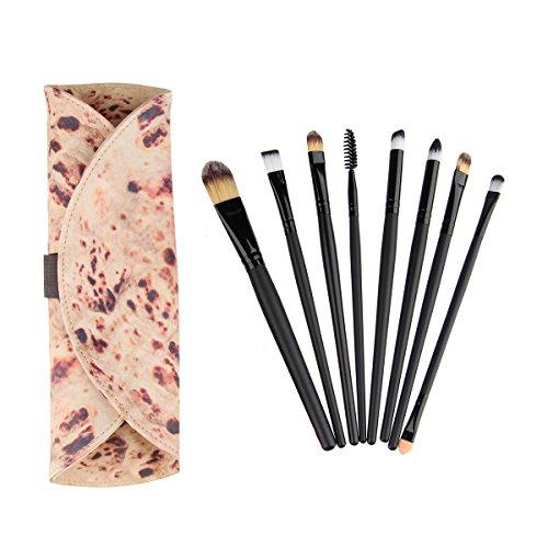 Flat-Bread Makeup Case PU Cosmetic Bag 20pcs Makeup Brushes Set Storage Pencil Organizer Makeup Bag