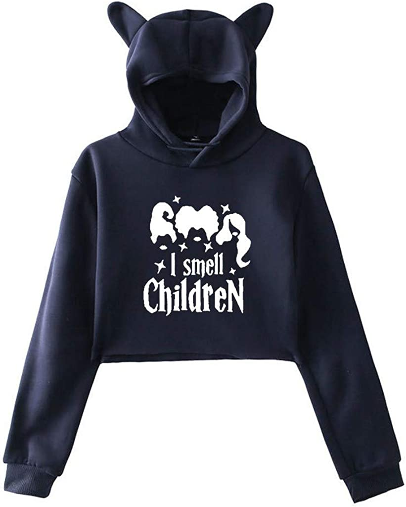 Girls' Hoodie, Misaky Autumn & Winter Casual Letter Print Long Sleeve Hooded Pullover Sweatshirt with Cat Ear