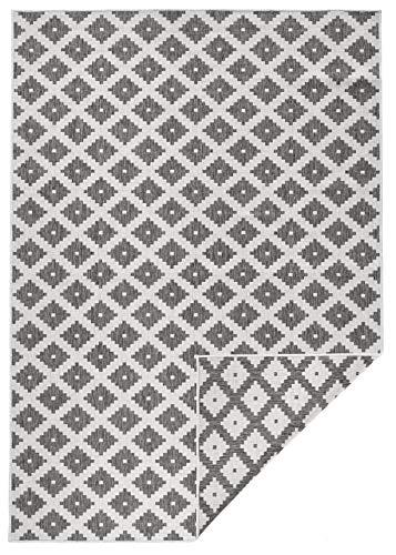 bougari In- & Outdoor Wendeteppich Nizza Grau Creme, 120x170 cm