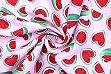 AllTissus Popeline Stoff Baumwolle Bedruckt Wassermelone