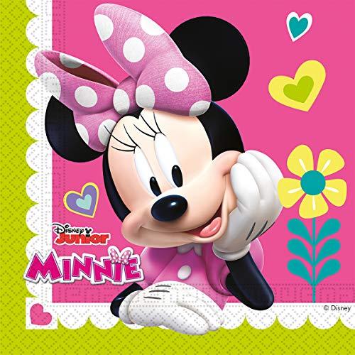 Colorbaby 87864 - Pack 20 Servilletas De Papel Disney Minnie Mouse Para Fiestas