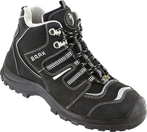 BAAK veiligheidsschoenen Philipp Sports S3 ESD, werkschoenen veterlaarzen maat 49, zwart, 7304