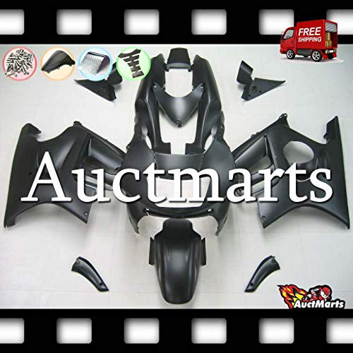 Auctmarts Injection Fairing Kit ABS Plastics Bodywork with FREE Bolt Kit for Honda CBR600F3 CBR 600 F3 1995 1996 1997 1998 Plain Solid Matt Black (P/N:1p16)