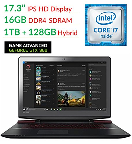 Lenovo Ideapad Y700 17.3' FHD Flagship High Performance Gaming Laptop PC | Intel Core i7-6700HQ | 16GB RAM | 1TB+128GSSD | NVIDIA GeForce GTX 960M with 4GB | Backlit Keyboard | Windows 10