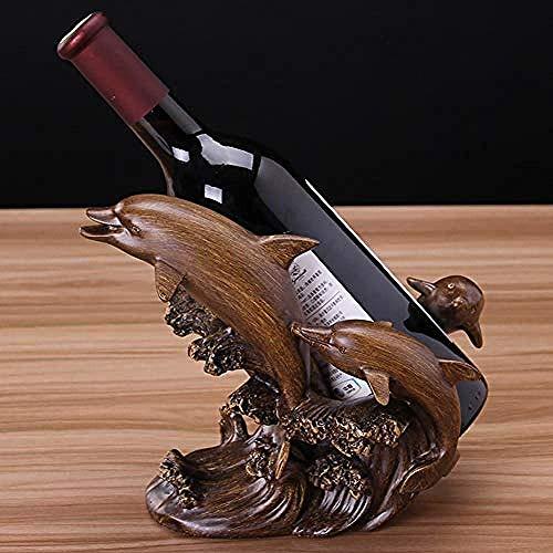 ZKAIAI Retro Moderno Estilo Belleza Europea Interior de la exhibición de Delfines decoración botellero Simples salón Amantes de la joyería Mueble Bar de vinos en casa del Contador de la joyería están