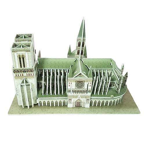 Puzzle 3D Regalos Arquitectura de Papel DIY Catedral de Notre Dame de París, Francia artesanía Modelo 3D de Turismo de Recuerdo for niños Educación Juguetes