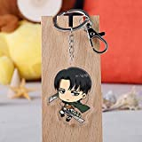 Saicowordist Attack on Titan Animation Karikatur Q-Version Transparent Acryl Anhänger Schlüsselanhänger Tasche Zubehör Anime Fans Geschenk( H05)