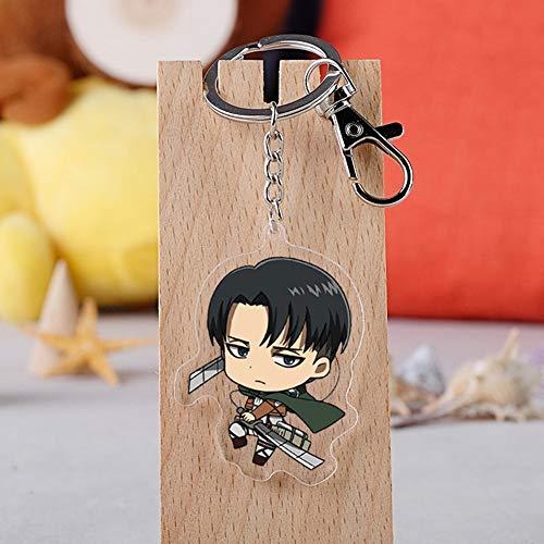 KroY PecoeD Attack On Titan Anime Accessories Mini Puppe Schlüsselbund Rucksack Anhänger Schlüsselanhänger Silikon Anime Figur Schlüsselanhänger Zubehör Anime Fans( Style 05)