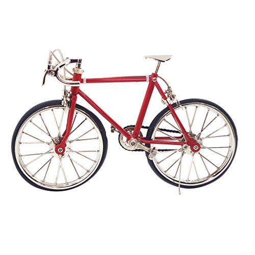 sharprepublic 1:10 Escala de La Bicicleta de Aleación de Muñecas Muñecos Muebles Decoración de Jardín Rojo - Rojo
