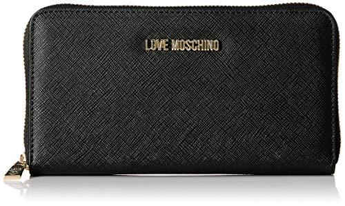 Love Moschino Jc5552pp16, Portafoglio Donna, (Nero), 3x11x20 cm (W x H x L)
