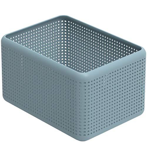 Rotho Madei Aufbewahrungskiste 13l, Kunststoff (PP recycelt) BPA-frei, blau, 13l (32,6 x 23,8 x 18,8 cm)