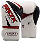 RDX Boxing Gloves for Training and Muay Thai - Maya Hide Leather Mitts for Sparring, Fighting and Kickboxing – Good for Punch Bag, Focus Pads, Grappling Dummy and Double End Speed Ball Punching
